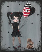 Pop Surrealism Paintings - My Pet Monster by Oddball Art Co by Lizzy Love