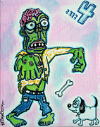 Cartoon Art - My Pet Zombie #4 / Here Boy by Laura Barbosa