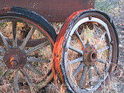 Wagon Wheels Photos - My Rambling Days are Done by Brooks Garten Hauschild