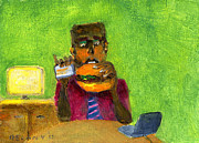 Hamburger Paintings - My Really Important Life Number 6 by George Delany