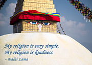 Buddha Posters - My Religion Is Kindness Poster by Mindah-Lee Kumar