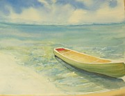 Canoe Painting Posters - My Ride Poster by Tamara Gonda