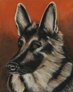 Dog Portraits Pastels Prints - My Sadie Print by Jeanne Fischer