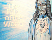 Light Of The World Paintings - My Saviour by Amanda Dinan
