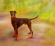 Dogs Digital Art Originals - My Scotty by Kari Nanstad
