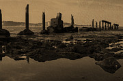 Steel Pier Posters - My Sea Of Ruins III Poster by Marco Oliveira