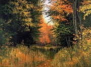 Michael Swanson Painting Posters - My Secret Autumn Place Poster by Michael Swanson