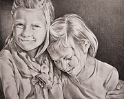 Sister Drawings - My Sisters Keeper by Sonja Deklerk