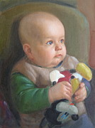 Son Paintings - My son by Svitozar Nenyuk