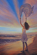 Realistic Paintings - My Spirit Takes Flight by Holly Kallie