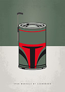 Starwars Digital Art Prints - My Star Warhols Boba Fett Minimal Can Poster Print by Chungkong Art