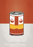 Cans Digital Art Prints - My Star Warhols Luke Skywalker Minimal Can Poster Print by Chungkong Art