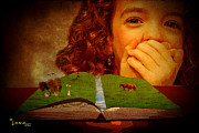 Photomanipulation Digital Art Prints - My Storybook Print by George Lenz