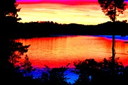 Norwegian Sunset Posters - My Sunset Poster by Hilde Widerberg