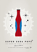 Captain America Prints - My SUPER SODA POPS No-02 Print by Chungkong Art
