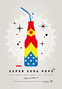Captain America Prints - My SUPER SODA POPS No-04 Print by Chungkong Art