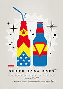 Captain America Prints - My SUPER SODA POPS No-06 Print by Chungkong Art