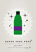 Captain America Prints - My SUPER SODA POPS No-11 Print by Chungkong Art