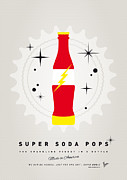 Captain America Prints - My SUPER SODA POPS No-18 Print by Chungkong Art