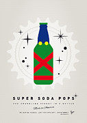 Captain America Prints - My SUPER SODA POPS No-21 Print by Chungkong Art