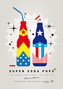 Captain America Prints - My SUPER SODA POPS No-24 Print by Chungkong Art