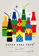 Justice League Framed Prints - My SUPER SODA POPS No-26 Framed Print by Chungkong Art