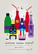 Captain America Prints - My SUPER SODA POPS No-27 Print by Chungkong Art