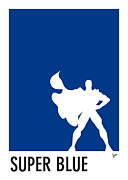 Game Metal Prints - My Superhero 03 Super Blue Minimal Pantone poster Metal Print by Chungkong Art