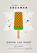 Super Hero Framed Prints - My SUPERHERO ICE POP - Aquaman Framed Print by Chungkong Art
