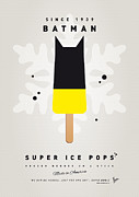 Minimalist Digital Art Framed Prints - My SUPERHERO ICE POP - BATMAN Framed Print by Chungkong Art