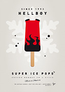 Cream Digital Art Framed Prints - My SUPERHERO ICE POP - Hellboy Framed Print by Chungkong Art