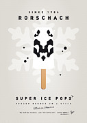 Books Digital Art Prints - My SUPERHERO ICE POP - Rorschach Print by Chungkong Art