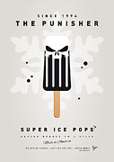 Cream Digital Art Framed Prints - My SUPERHERO ICE POP - The Punisher Framed Print by Chungkong Art