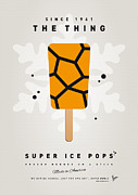 Cream Digital Art Framed Prints - My SUPERHERO ICE POP - The Thing Framed Print by Chungkong Art
