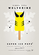 Retro Posters Prints - My SUPERHERO ICE POP - Wolverine Print by Chungkong Art