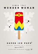 Books Digital Art Prints - My SUPERHERO ICE POP - Wonder Woman Print by Chungkong Art