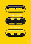 Books Framed Prints - My SUPERHERO PILLS - Batman Framed Print by Chungkong Art