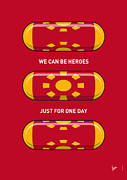 Super Hero Metal Prints - My SUPERHERO PILLS - Iron Man Metal Print by Chungkong Art