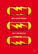 Powers Framed Prints - My SUPERHERO PILLS - The Flash Framed Print by Chungkong Art