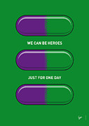Minimalist Art - My SUPERHERO PILLS - The Hulk by Chungkong Art