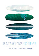 Surfer Art Art - My Surfspots poster-3-Punta de Lobos-Chile by Chungkong Art