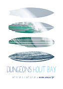 Surfers Prints - My Surfspots poster-4-Dungeons-Cape-Town-South-Africa Print by Chungkong Art