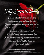 Dallas Digital Art Metal Prints - My Sweet Wonder Poetry Art Metal Print by Stanley Mathis