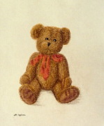 Toy Pastels Posters - My Teddy Poster by Maria Malevannaya