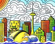 Multicultural Paintings - My Toronto by Oiyee  At Oystudio