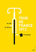 Simple Digital Art Metal Prints - MY Tour de France 2012 minimal poster Metal Print by Chungkong Art