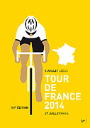 Cycling Art Metal Prints - My Tour De France Minimal Poster 2014 Metal Print by Chungkong Art