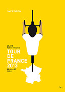 Cycling Framed Prints - My Tour De France Minimal Poster Framed Print by Chungkong Art