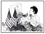 Memorial Day Drawings Prints - My Tribute Print by Joseph Juvenal