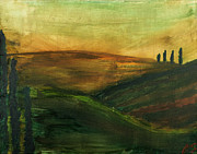 Italian Landscapes Paintings - My Tuscany  by Katy  Scott